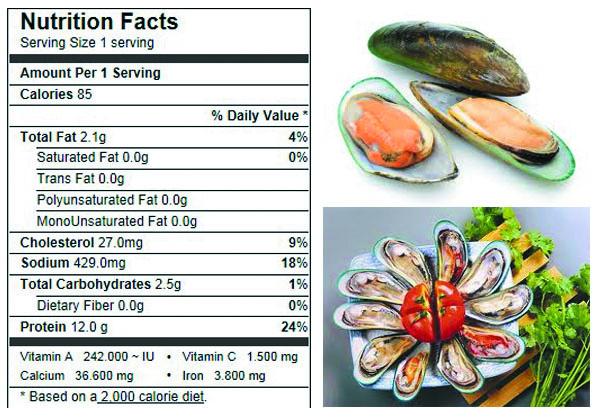 Green Mussel (Perna canalicula